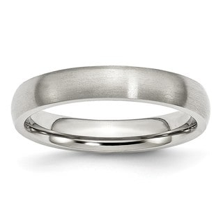 Link to Chisel Stainless Steel 4mm Brushed Band Similar Items in Rings