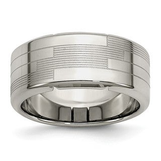 Stainless Steel Textured Ring