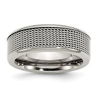Stainless Steel Base with Steel Mesh Center 8mm Band