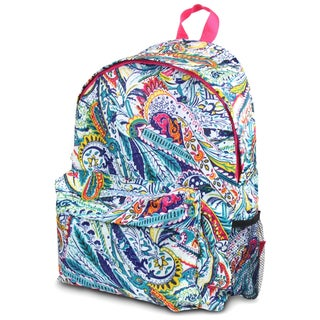 Zodaca Paisley Outdoor Large Backpack Padded Back Travel Hiking Camping Bag with Adjustable Shoulder Strap