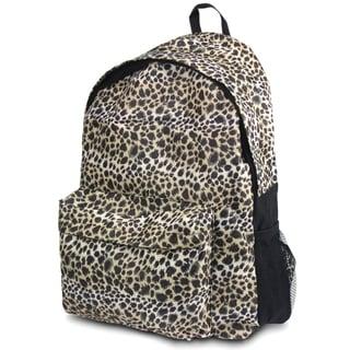 Zodaca Leopard Outdoor Large Backpack Padded Back Travel Hiking Camping Bag with Adjustable Shoulder Strap