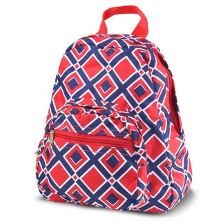 Zodaca Times Squares Red Bright Stylish Kids Small Backpack Outdoor Shoulder School Zipper Bag with Adjustable Strap