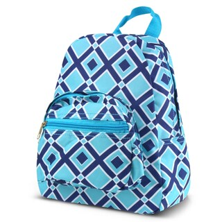 Zodaca Times Square Turquoise Bright Stylish Kids Small Backpack Outdoor Shoulder School Zipper Bag with Adjustable Strap