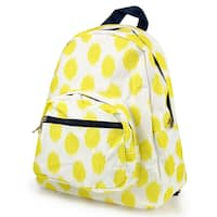 Zodaca Yellow Dots with Blue Trim Stylish Kids Small Backpack Outdoor Shoulder School Zipper Bag with Adjustable Strap