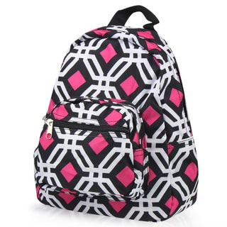 Zodaca Black Graphic Bright Stylish Kids Small Backpack Outdoor Shoulder School Zipper Bag with Adjustable Strap