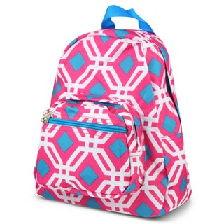Zodaca Pink Graphic Bright Stylish Kids Small Backpack Outdoor Shoulder School Zipper Bag with Adjustable Strap