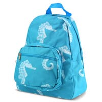 Zodaca Seahorse Bright Stylish Kids Small Backpack Outdoor Shoulder School Zipper Bag with Adjustable Strap