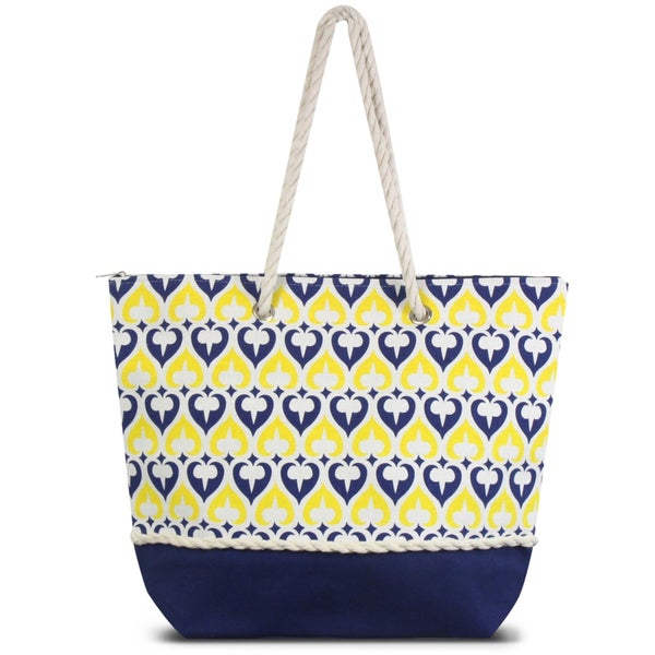 b39e3c9b24b7 Zodaca Navy Spade Women Handbag Ladies Large Shoulder Tote Purse Messenger  Bag