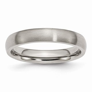 Titanium 4mm Brushed Band - Black