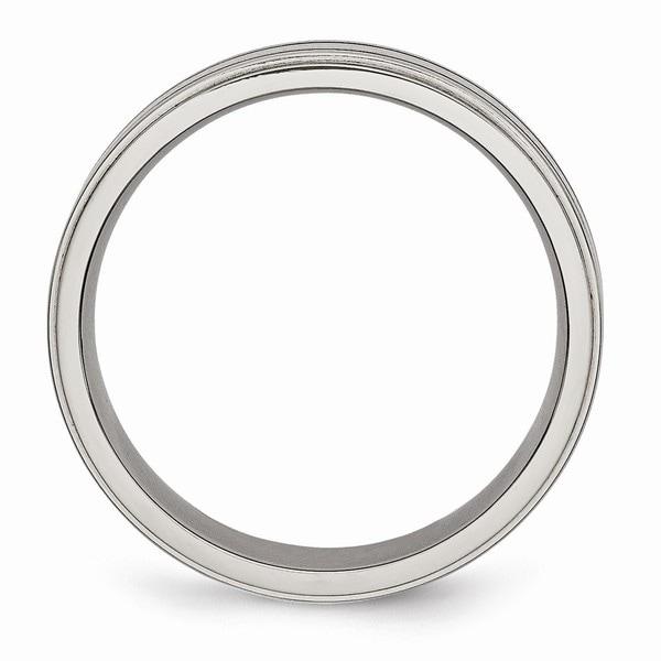 Bridal Titanium Enameled Flat 6mm Polished Band