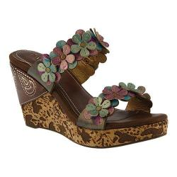 Women's L'Artiste by Spring Step Aura Wedge Sandal Purple Multi Leather