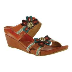 Women's L'Artiste by Spring Step Bacall Wedge Slide Camel Leather