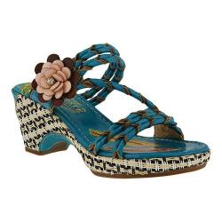Women's L'Artiste by Spring Step Bellisimo Slide Turquoise Leather