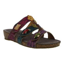 Women's L'Artiste by Spring Step Aghna Slide Purple Multi Leather