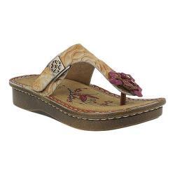 Women's L'Artiste by Spring Step Aldora Thong Sandal Camel Leather