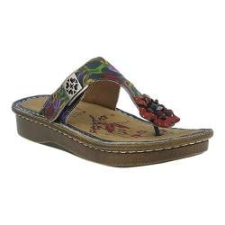 Women's L'Artiste by Spring Step Aldora Thong Sandal Navy Multi Leather