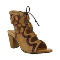 Women's L'Artiste by Spring Step Alejandra Ghille Lace Sandal Beige Leather