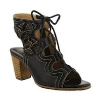 Women's L'Artiste by Spring Step Alejandra Ghille Lace Sandal Black Leather