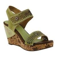 Women's L'Artiste by Spring Step Allura Wedge Sandal Mint Leather