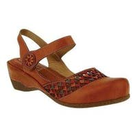 Women's L'Artiste by Spring Step Amour Closed Toe Sandal Camel Leather