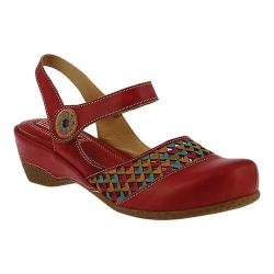 Women's L'Artiste by Spring Step Amour Closed Toe Sandal Red Leather
