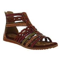 Women's L'Artiste by Spring Step Anjula Gladiator Sandal Camel Multi Leather
