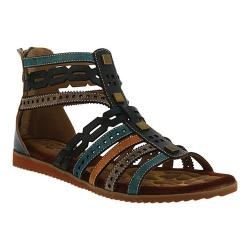 Women's L'Artiste by Spring Step Anjula Gladiator Sandal Teal Multi Leather