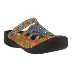 Women's L'Artiste by Spring Step Bombay Clog Camel Leather