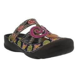 Women's L'Artiste by Spring Step Bombay Clog Navy Multi Leather