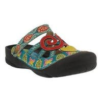 Women's L'Artiste by Spring Step Bombay Clog Turquoise Multi Leather