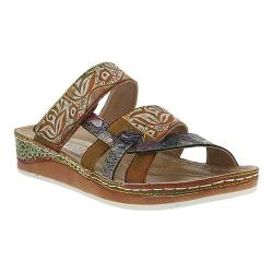 Women's L'Artiste by Spring Step Caiman Slide Camel Multi Leather (More  options available