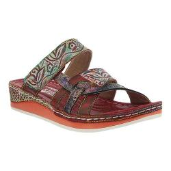 Women's L'Artiste by Spring Step Caiman Slide Red Multi Leather