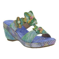 Women's L'Artiste by Spring Step Cammy Slide Blue Multi Leather