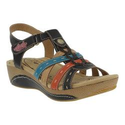 Women's L'Artiste by Spring Step Cloe Strappy Sandal Black Leather