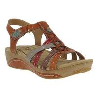 Women's L'Artiste by Spring Step Cloe Strappy Sandal Camel Leather