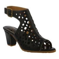 Women's L'Artiste by Spring Step Dova Sandal Black Leather