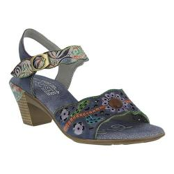 Women's L'Artiste by Spring Step Isobel Quarter Strap Sandal Blue Leather
