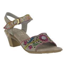 Women's L'Artiste by Spring Step Isobel Quarter Strap Sandal Grey Leather
