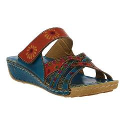 Women's L'Artiste by Spring Step Kaxanne Slide Turquoise Multi Leather
