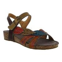 Women's L'Artiste by Spring Step Kukonda Quarter Strap Sandal Camel Multi Leather