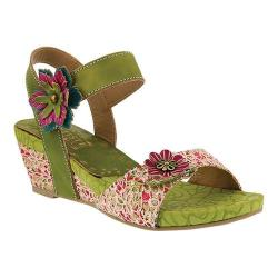 Women's L'Artiste by Spring Step Laisis Quarter Strap Sandal Lime Multi Leather