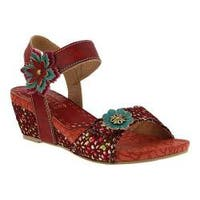 Women's L'Artiste by Spring Step Laisis Quarter Strap Sandal Red Multi Leather