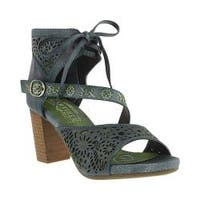 Women's L'Artiste by Spring Step Sujala Ankle Cuff Sandal Blue Leather