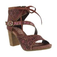 Women's L'Artiste by Spring Step Sujala Ankle Cuff Sandal Bordeaux Leather