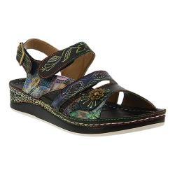 Women's L'Artiste by Spring Step Sumacah Strappy Slingback Black Multi Leather