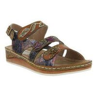 Women's L'Artiste by Spring Step Sumacah Strappy Slingback Camel Multi Leather