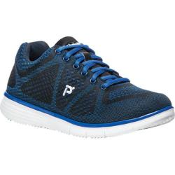 Men's Propet TravelFit Sneaker Black/Blue Mesh 3-D Knit/Mesh