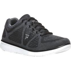 Men's Propet TravelFit Sneaker Black/Grey Mesh 3-D Knit/Mesh