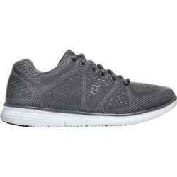 Men's Propet TravelFit Sneaker Grey Mesh 3-D Knit/Mesh