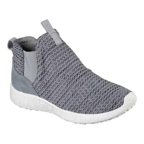Women's Skechers Burst Fresh Thinking Slip-On High Top Charcoal